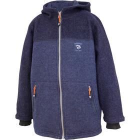 Ivanhoe of Sweden Block Hooded Jacket Kids, bleu